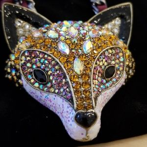 Betsey Johnson statement fox necklace